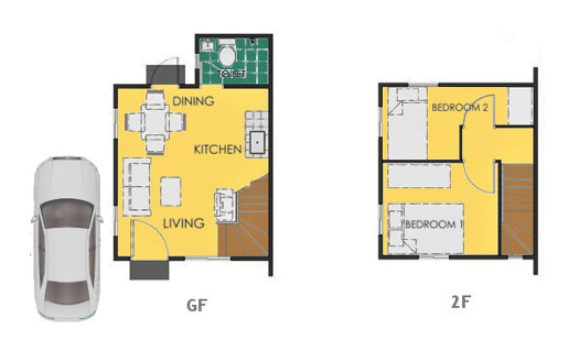 Reva Floor Plan House and Lot in Legazpi