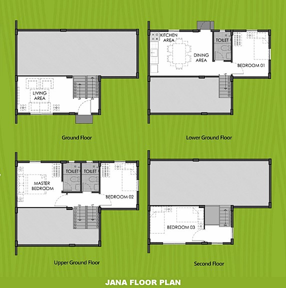 Janna Floor Plan House and Lot in Legazpi