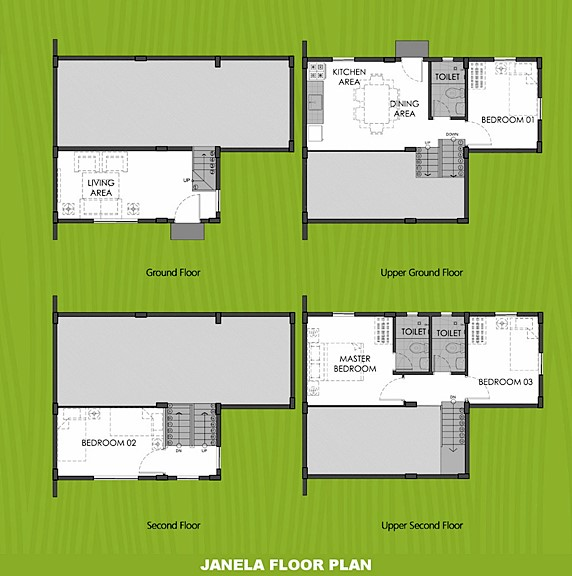 Janela Floor Plan House and Lot in Legazpi