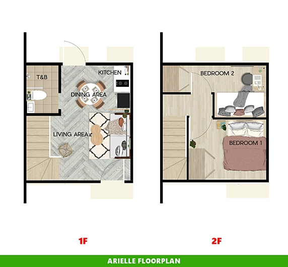 Arielle Floor Plan House and Lot in Legazpi