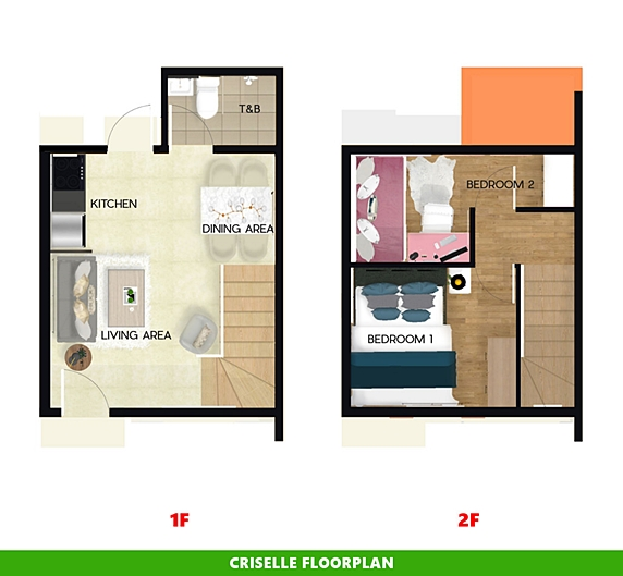 Criselle Floor Plan House and Lot in Legazpi