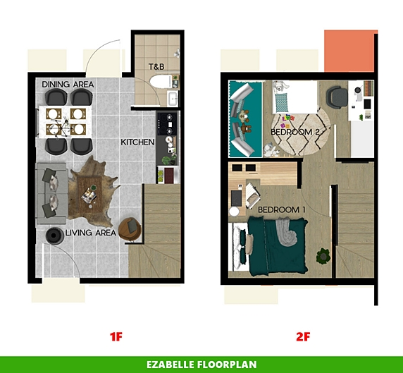 Ezabelle Floor Plan House and Lot in Legazpi